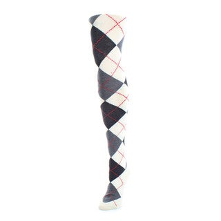 Memoi Women's Classy Argyle Sweater Tights