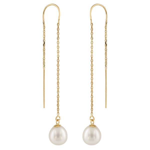 s long drop claire pearl earrings