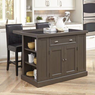 Home Styles Stockbridge Kitchen Island and Two Stools