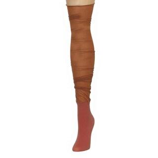 Memoi Women's Shimmer Top Over The Knee
