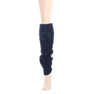 Memoi Women's Texture Twine Legwarmer
