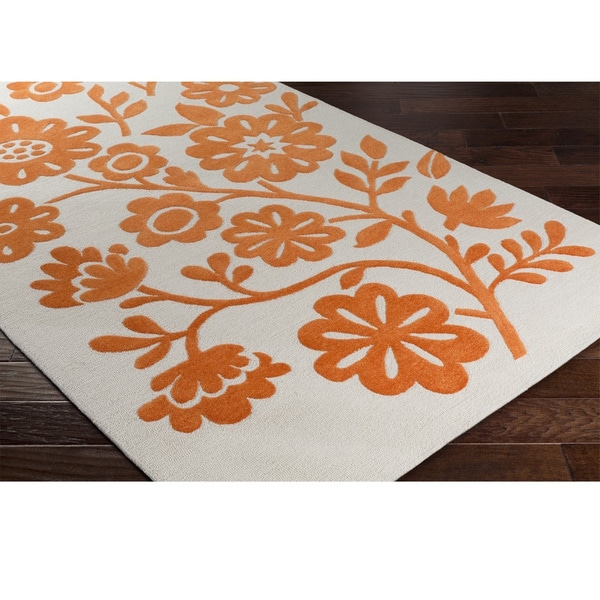 Hand Hooked Cleaves Poly Acrylic Area Rug
