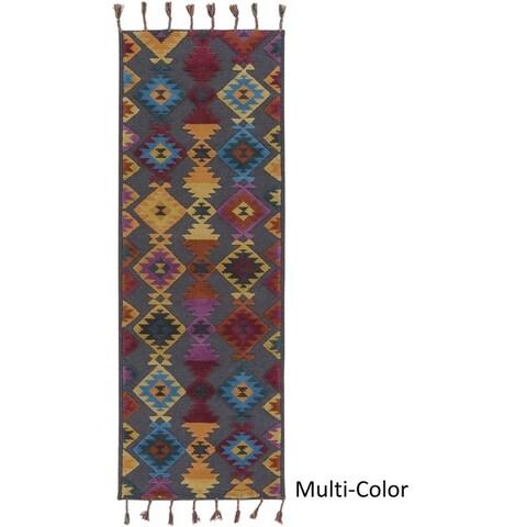 Hand Woven Boricua Wool/Cotton Area Rug
