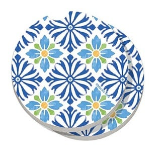 Counterart Absorbent Stone Car Coaster Mediterranean (Set of 2)