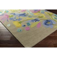 Hand Tufted Emblematic Wool - New Zealand Area Rug - 2' x 3'