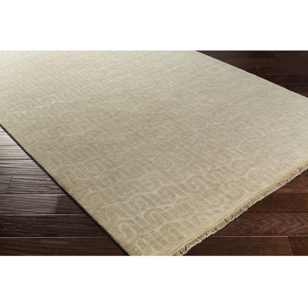 Hand Knotted Bonsallo Wool/Cotton Rug (2' x 3')