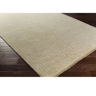 Hand Knotted Bonsallo Wool/Cotton Rug (6' x 9')
