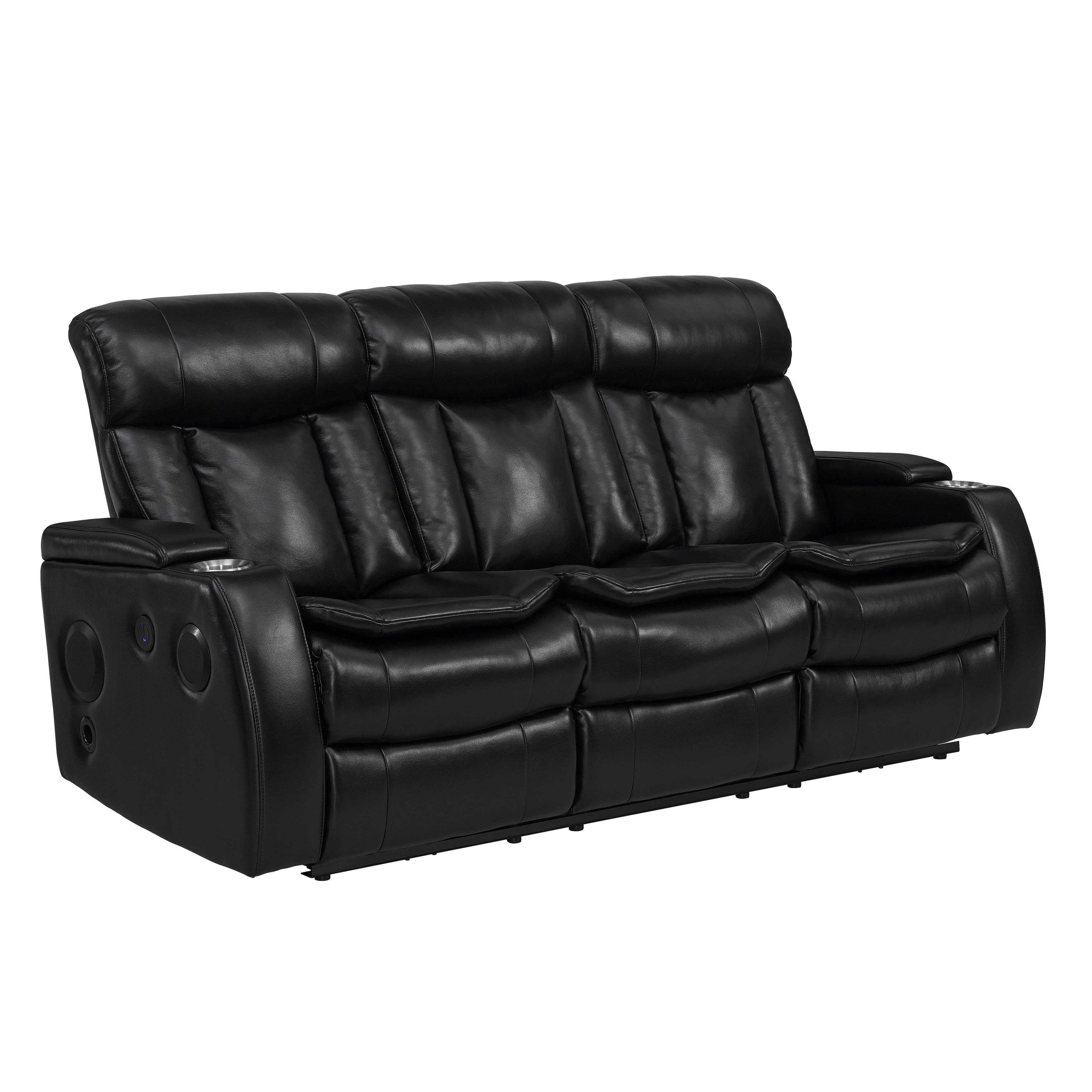 Sofas Recliner Genella 83 Reclining Sofa With Headrest And Usb Thesofa