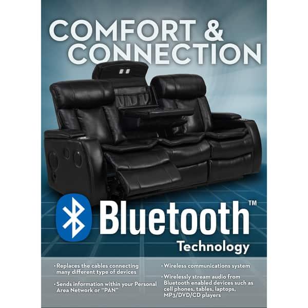Surprising Shop Smart Tech Bluetooth Power Reclining Black Sofa And Bralicious Painted Fabric Chair Ideas Braliciousco