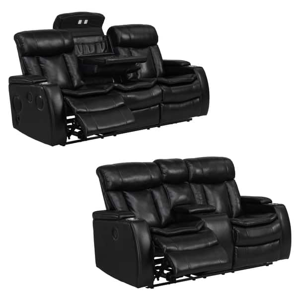 Strange Shop Smart Tech Bluetooth Power Reclining Black Sofa And Bralicious Painted Fabric Chair Ideas Braliciousco