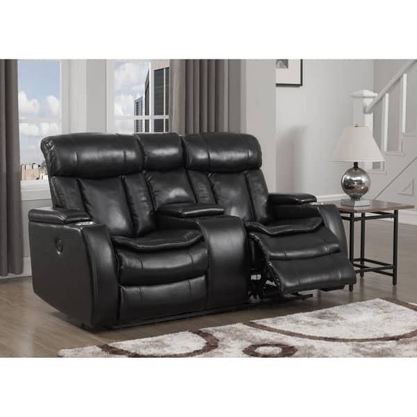 Fabulous Shop Smart Tech Bluetooth Power Reclining Black Sofa And Customarchery Wood Chair Design Ideas Customarcherynet