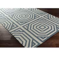 Hand Woven Fiore Wool Area Rug - 8' x 10'