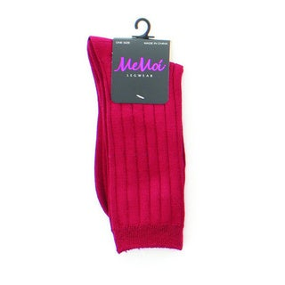 Memoi Women's Essential Rib Crew Socks (Option: Purple)