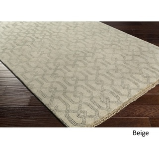 Hand Knotted Booksin Wool/Cotton Rug (8' x 10')