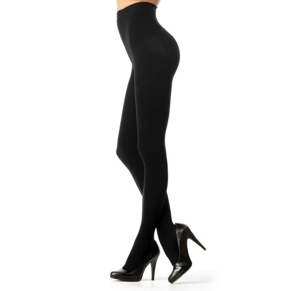 dbff8b4a79d Shop Memoi Women s Completely Opaque Control Top Tights - Free ...