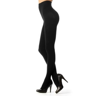 Memoi Women's Completely Opaque Control Top Tights