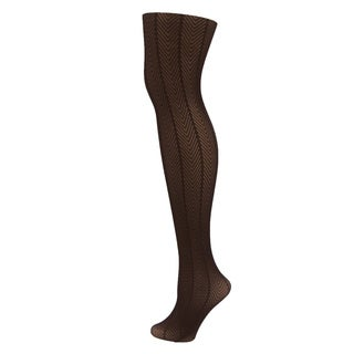 Memoi Women's Herringbone Tights
