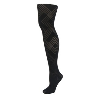 Memoi Women's Geometric Pattern Tights