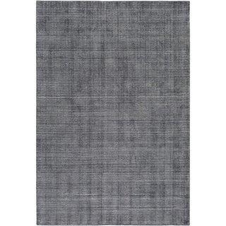 Hand Loomed Branham Viscose/Cotton Area Rug (5 x 76 - Black)