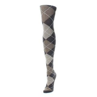 Memoi Women's Textu Argyle Sweater Tights