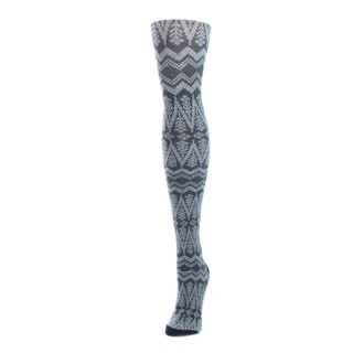 Memoi Women's Tree Zag Sweater Tights