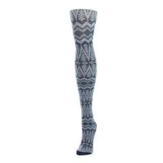 Memoi Women's Tree Zag Sweater Tights