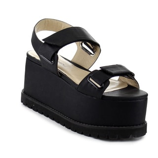 Beston AB09 Women's Platform Lug Sole Wedges
