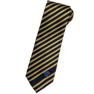 Versace 100-percent Italian Silk Gold Stripes Neck Tie