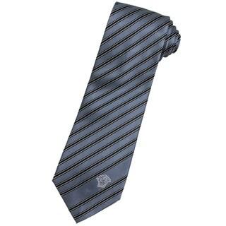 Versace 100-percent Italian Silk Black Stripes Neck Tie