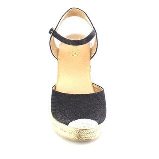 Beston AB03 Women's Glitter Espadrille Platform Wedge Sandals