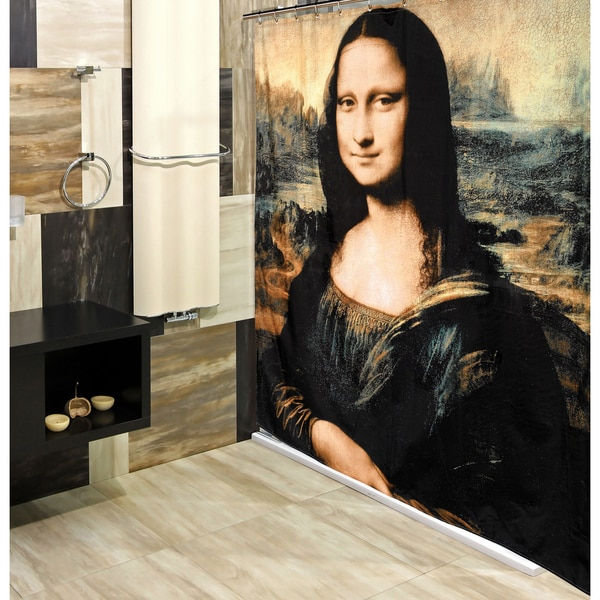 """Mona Lisa"" Fabric Shower Curtain"