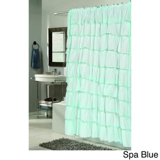 """""""Carmen"""" Polyester Ruffled Shower Curtain (5 options available)"""