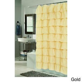"""Carmen"" Polyester Ruffled Shower Curtain"