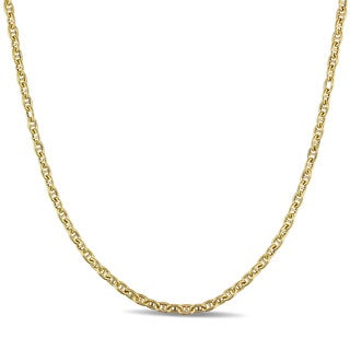 Miadora 10k Yellow Gold Italian Mariner Link Chain Necklace