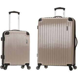 Rockland Santorini 2-piece Expandable Hardside Spinner Upright Luggage Set