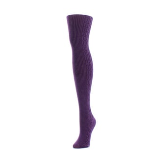 Memoi Women's Side Cable Sweater Tights