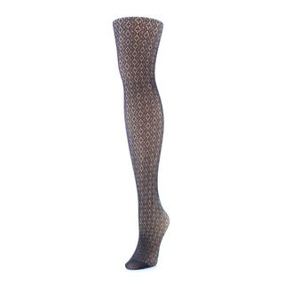Memoi Women's Crochet Lurex Net Tights