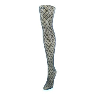 Memoi Women's Infinite Diamond Lurex Net Tights