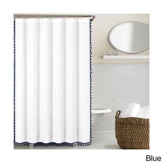 Echelon Home Tassel Shower Curtain (2 options available)
