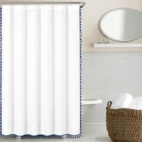 "Echelon Home Tassel Shower Curtain - 72"" x 72"""