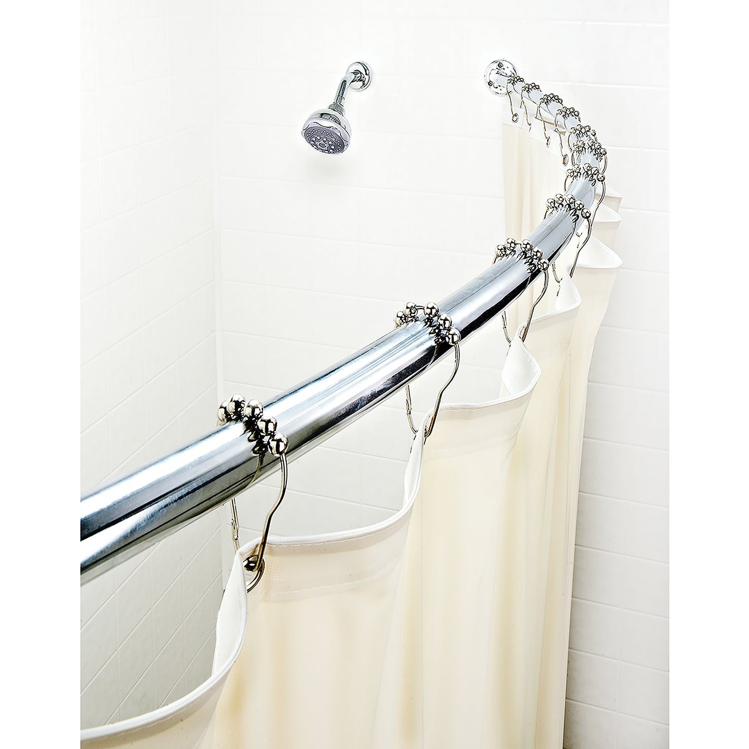 Bath Bliss Expandable 42 To 72 Inch Curved Shower Curtain Rod