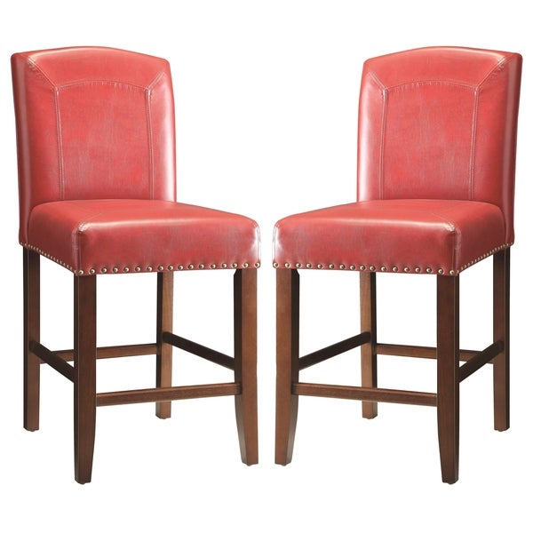 Shop Horizon Red Parson Style Counter Height Stools Set