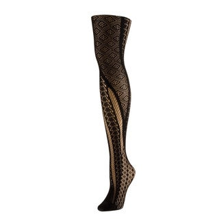 Memoi Women's Sporadic Edge Net Tights