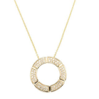 EFFY 14k Yellow Gold 1/4ct TDW Diamond Pendant (D-E, VS1-VS2)