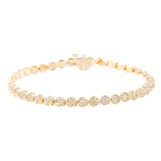 EFFY Final Call 14k Yellow Gold 2ct Diamond TDW Tennis Bracelet (D-E,VS1-VS2)