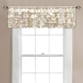 Lush Decor Gigi Window Curtain Valance - Ivory