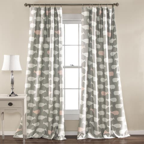 Taylor & Olive Lums Whale Curtain Panel (Set of 2)