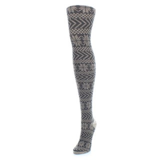 Memoi Women's Snowflake Sweater Tights