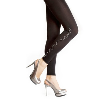 Memoi Women's Zip Line Footless Tights