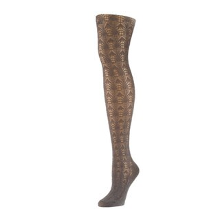 Memoi Women's Inverted Crochet Tights